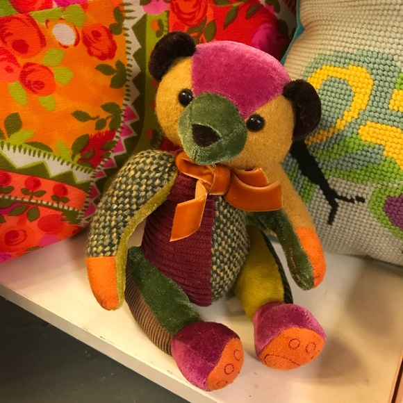 Vintage Other - Little Patchwork Patch Teddy Bear